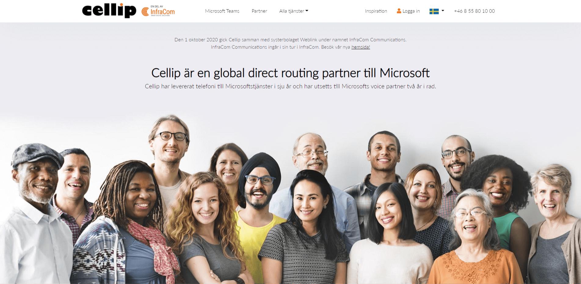 Cellip-telefonileverantör-homepage