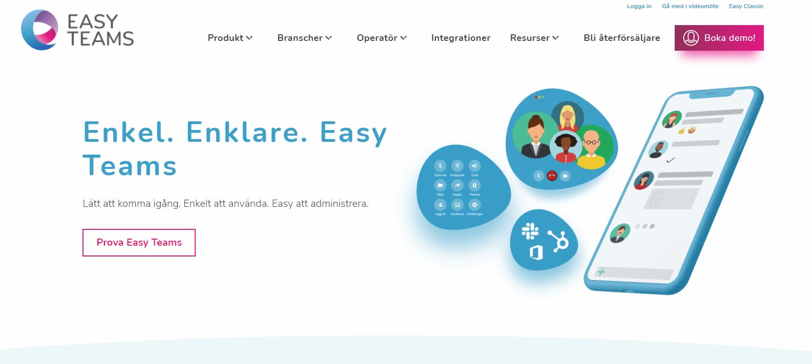 Easy Telefoni-telefonileverantör-homepage