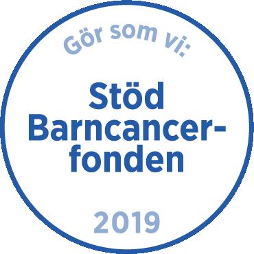 Märke stöd Barncancerfonden