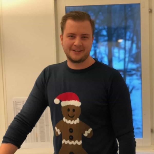 Theodor har jultröja