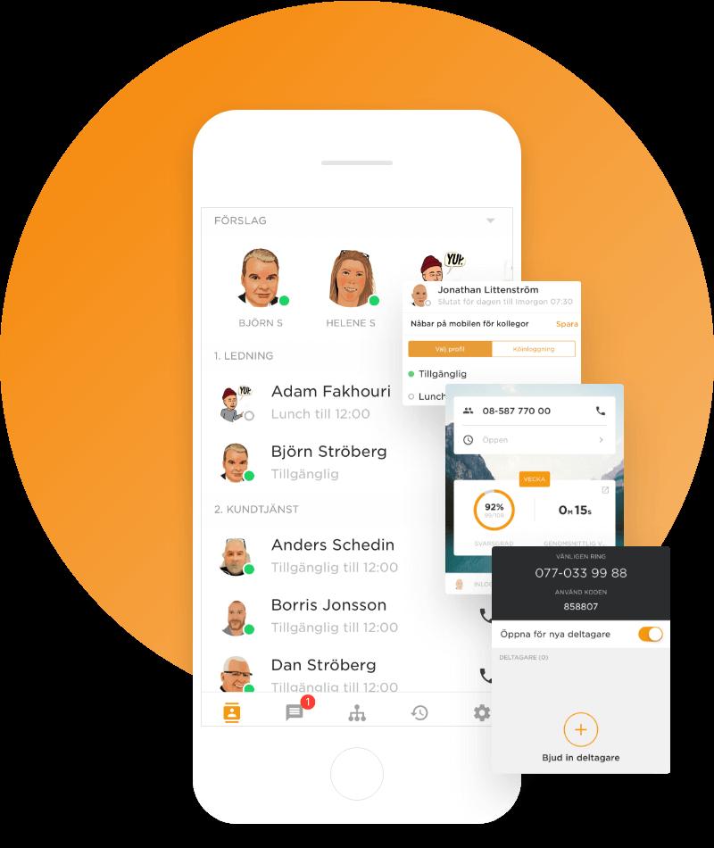 Telekompaniets mobilapp för mobil växel